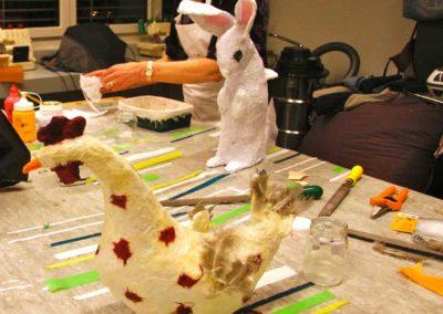 Papiermaché Workshop | Hase und Huhn