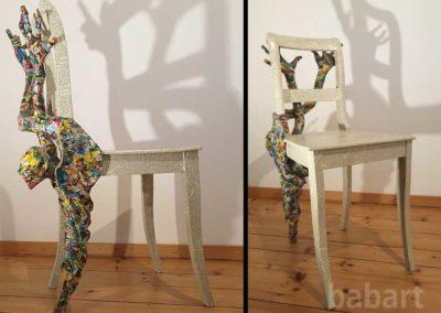 Lesestuhl | Skulptur in Mischtechnik