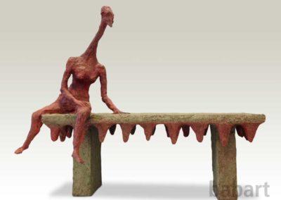 Lunga | Skulptur in Mischtechnik