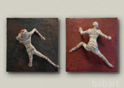 uno e due | Skulptur in Mischtechnik