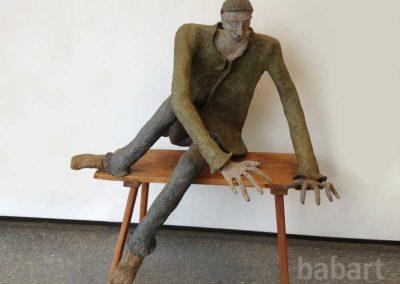 Reisender | Skulptur in Mischtechnik