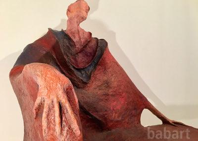 Governo | Sitzbank und Skulptur in Mischtechnik